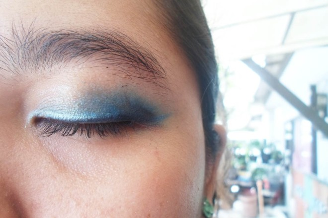 Close Up Eye Shadow and Eye Liner Look