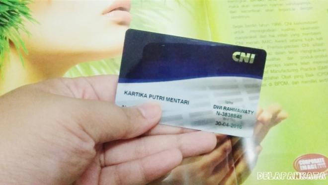 Kartu member CNI-ku :)