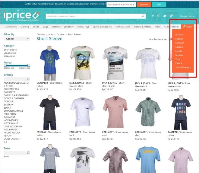 Daftar situs belanja yang kupon diskonnya disediakan oleh iprice