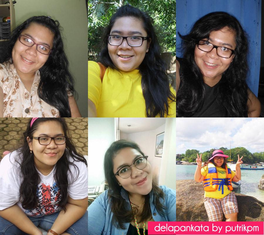 Berbagai jenis dan bentuk kacamata yang pernah aku pakai