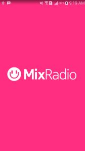 Tampilan MixRadio di androidku. Klik untuk memperbesar.