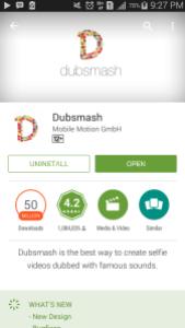 Tampilan download Dubsmash di android