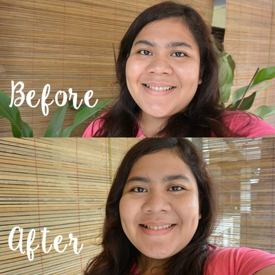 Senin Feminin_Make-Up Review_Precious Blemish Balm Cream_Before after