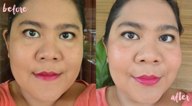 before after emina cream blush cheeklit peach