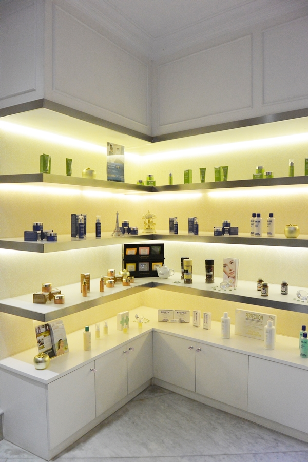 Skincare Rack at OYA Clinics - Delapankata